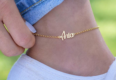 Name bracelets & Personalized Anklets