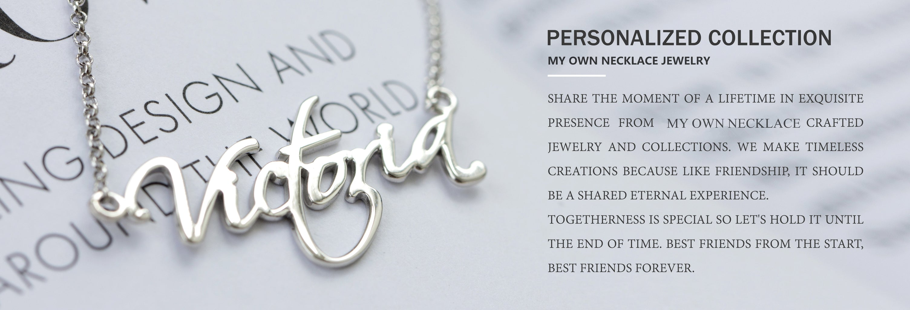 Customized name necklace - Banner 1