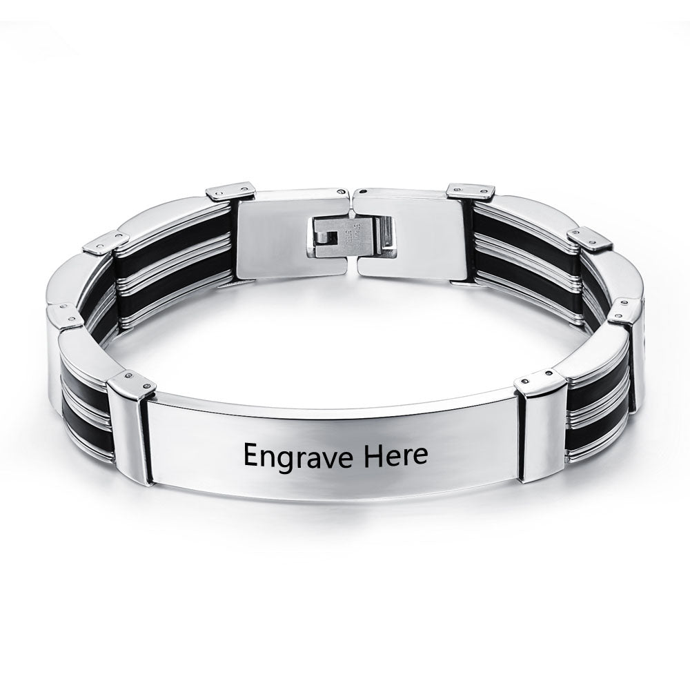 Personalized Stainless Steel Engravable Bracelets For Men
