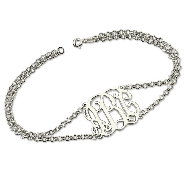 Monogram Bracelet in sterling silver
