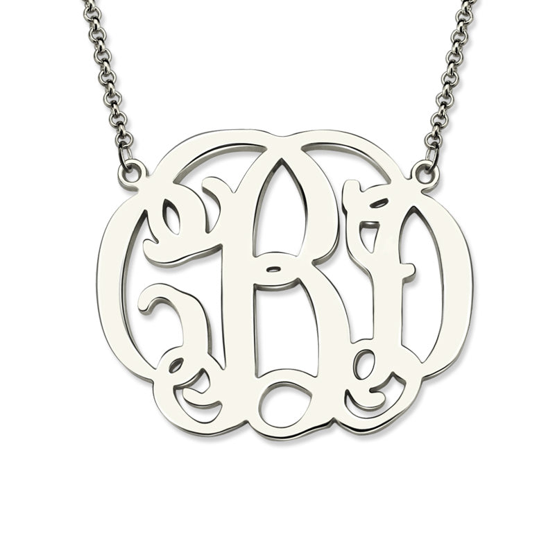 Customized Monogram Letter Necklace