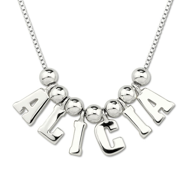 Customized All Capital Letter Name Necklace with box chain
