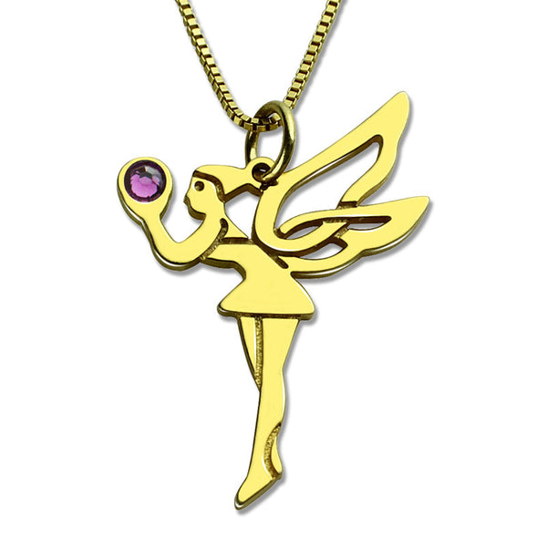 Dancing Lady Necklace in 14K Gold