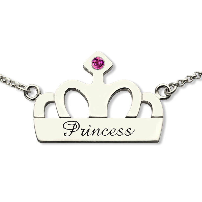 crown personalized name necklace