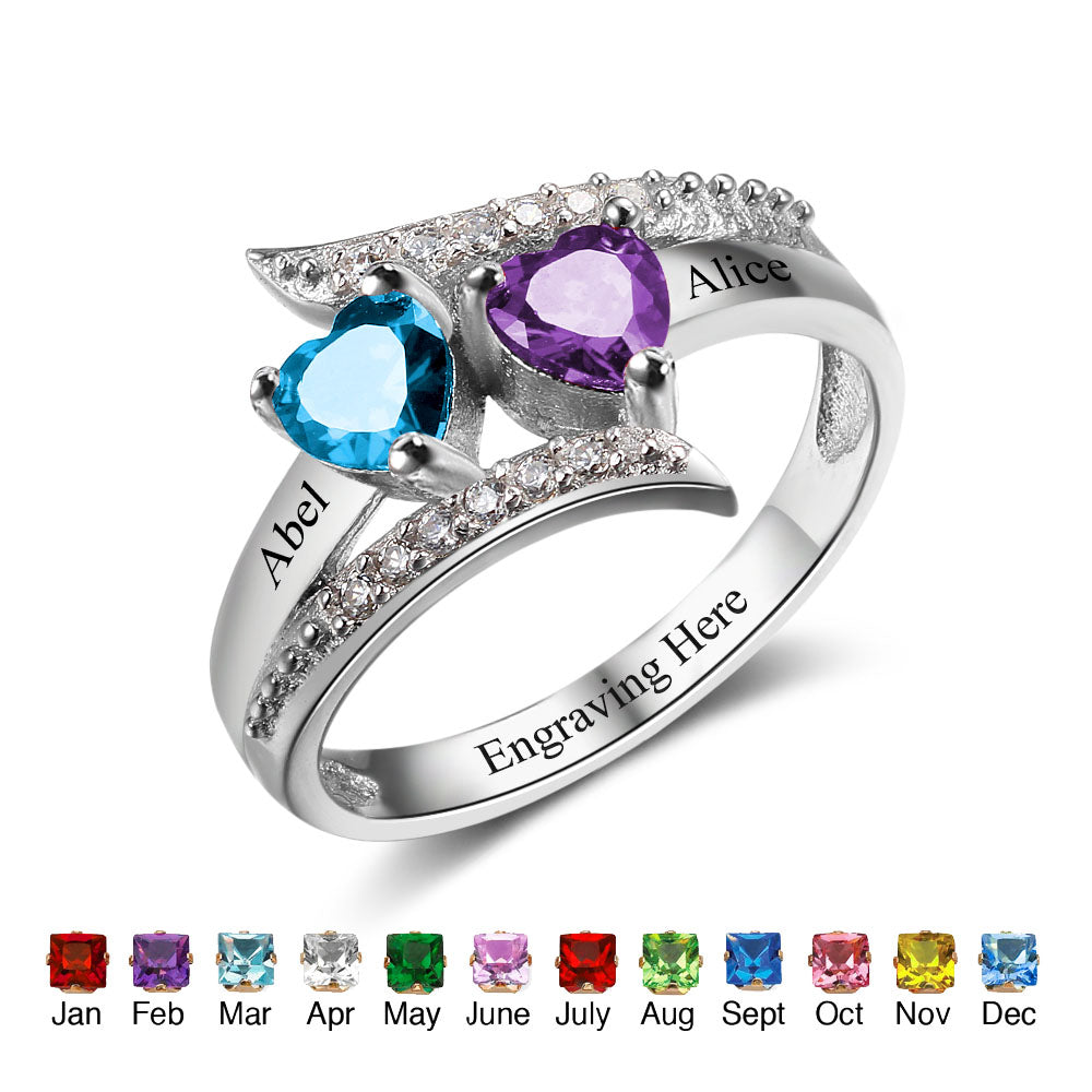 Mother & Child Name Ring
