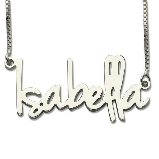 Sterling Silver Name Chain Necklace