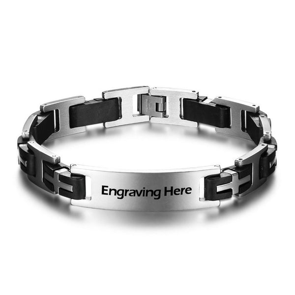 Customized Stainless Steel Bracelet with Engraving