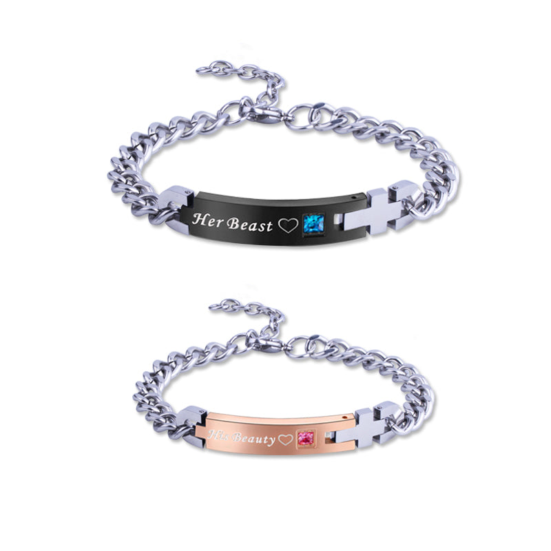 Personalized Stainless Steel Engraved Bracelet