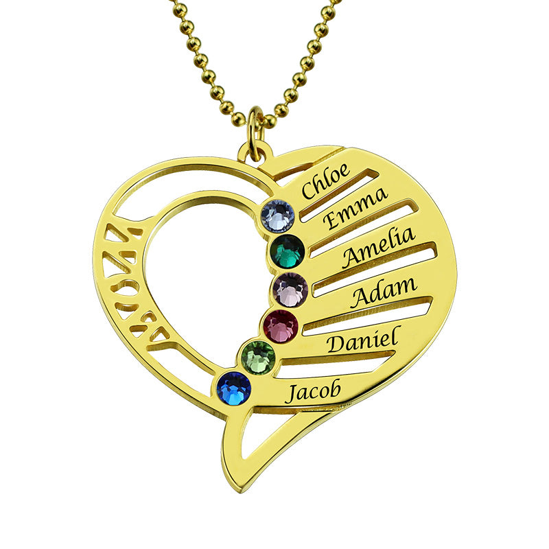 Grandchildren Necklace with Names