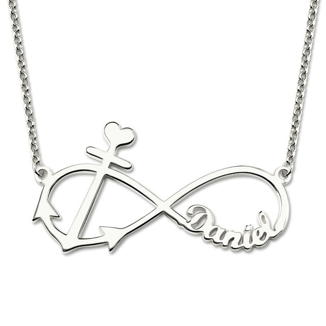 infinity necklace with anchor