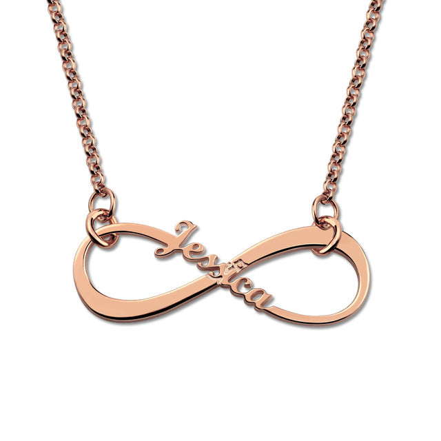 Personized Infinity Symbol Pendant Necklace