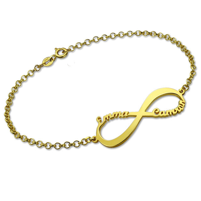 Customized 14K Gold Infinity Bracelet