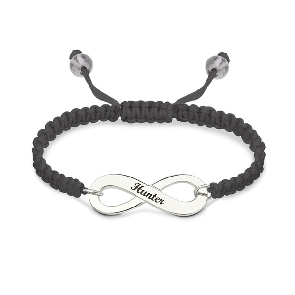Adjustable Infinity Bracelet with engraving
