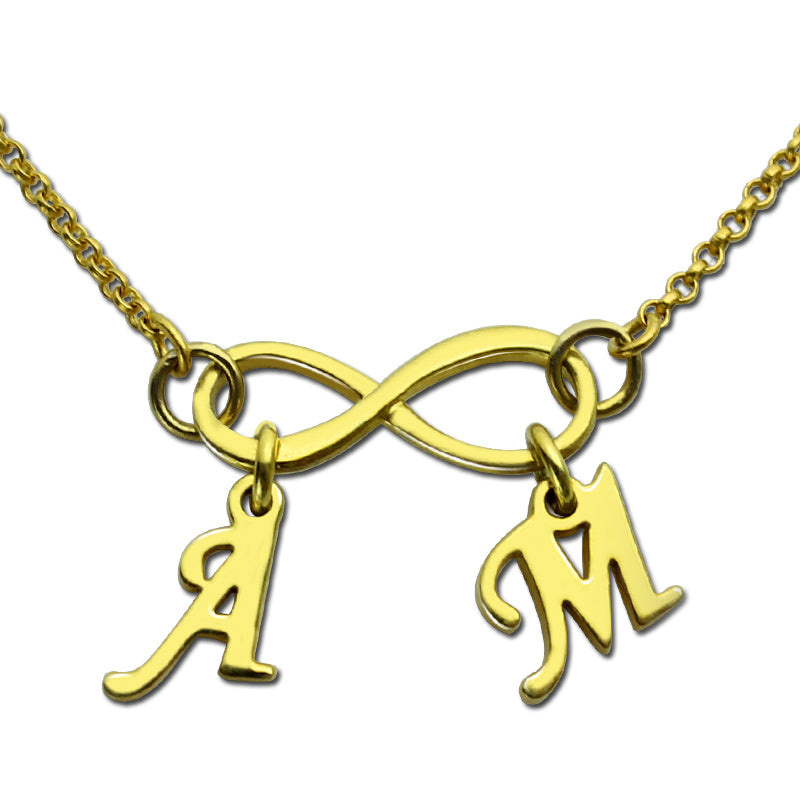infinity necklace with initial