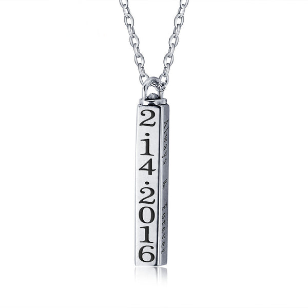 column necklace in silver