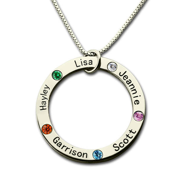circle pendant necklace silver