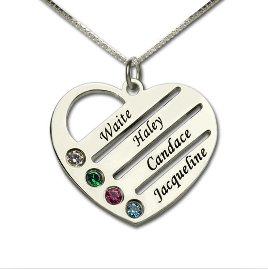 grandchildren birthstone necklace