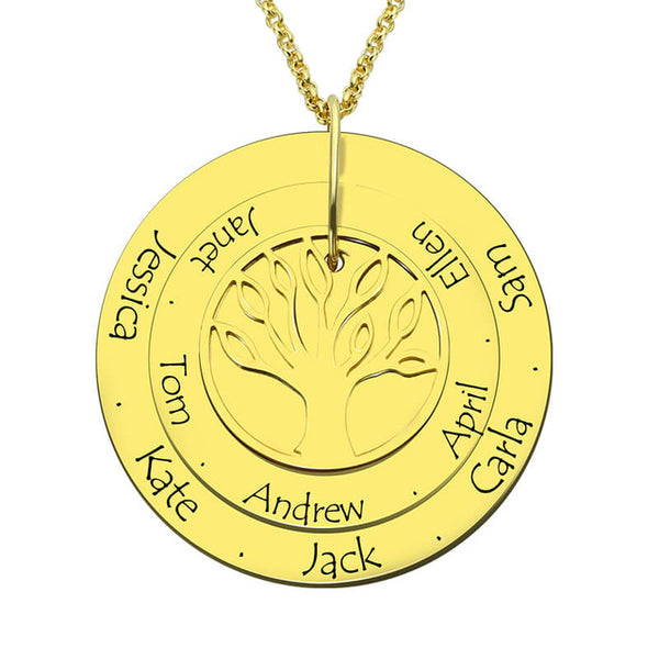 family tree necklace - 14K gold