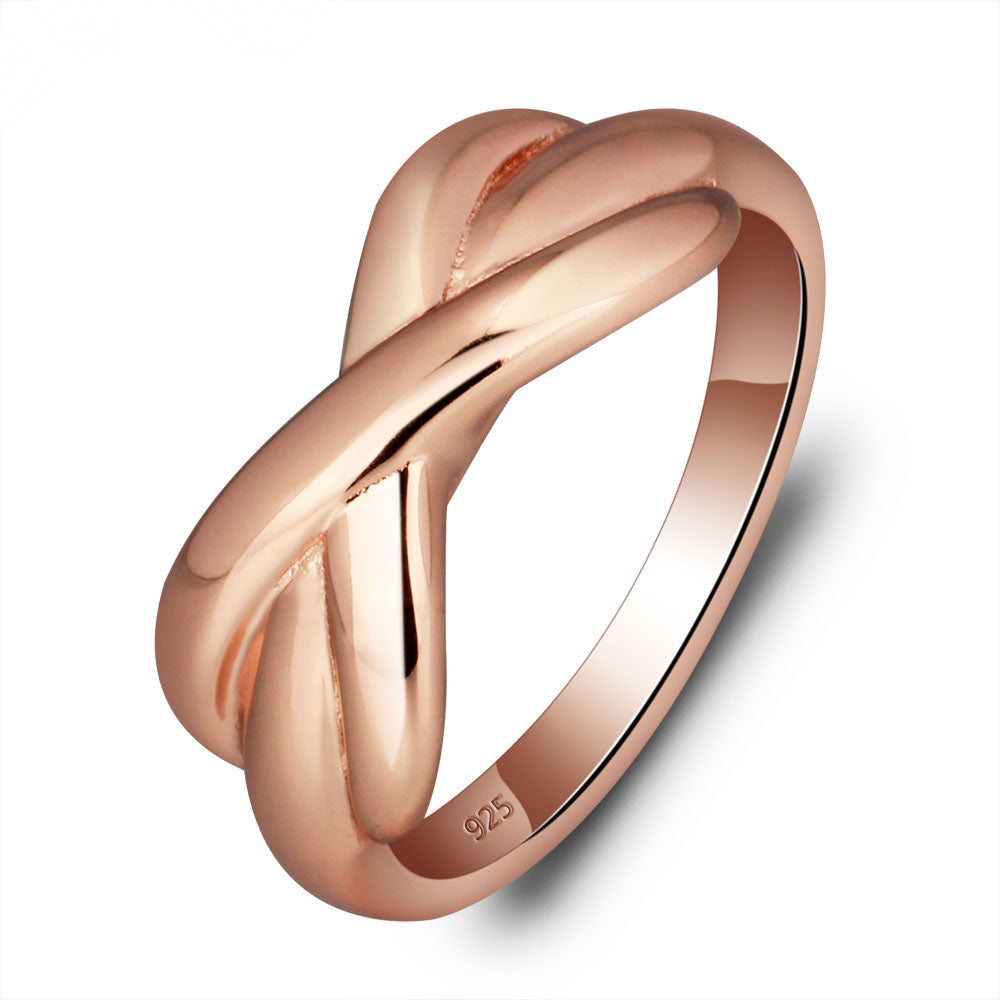 Infinity Love Ring in Rose Gold Plating