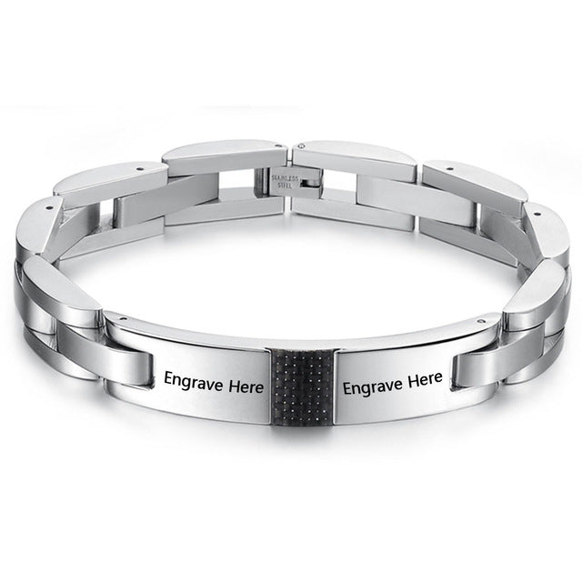 Personalized Engrave Hologram Bracelets For Men