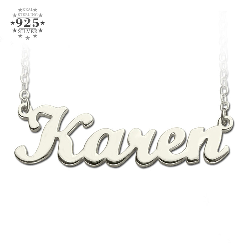 Classic Personalized Silver Name Necklace