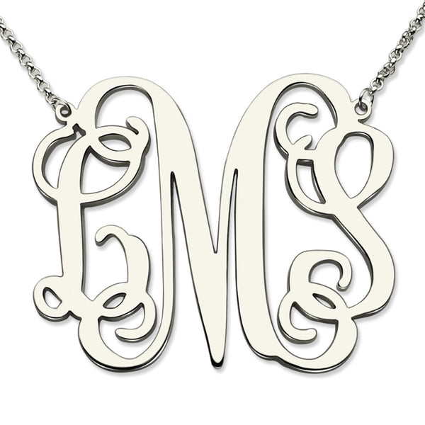 Personalized Script Name Necklace in Sterling Silver