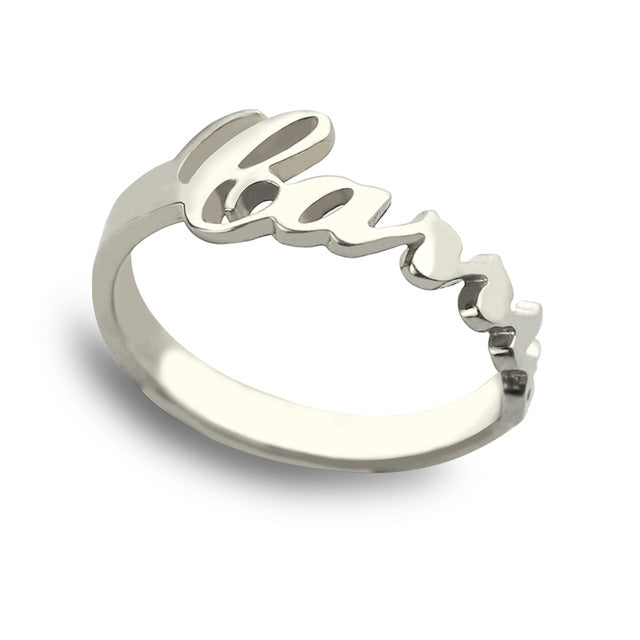Personalized Name Ring in Sterling Silver