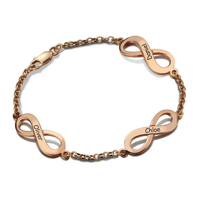 Rose Gold-Plated Multiple Infinity Bracelet