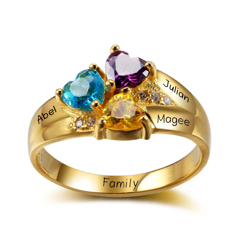 Mothers Ring with Children's Names