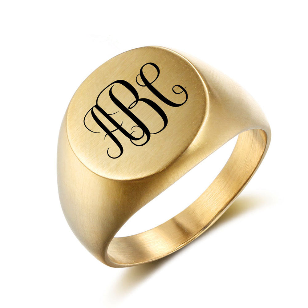 Punk Style Monogram Ring