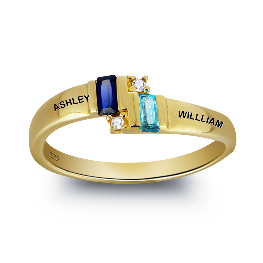 Personalized 2 Name Ring