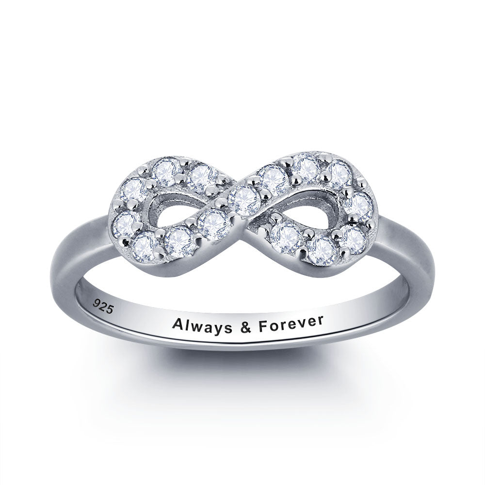 Personalized Diamond Infinity Ring