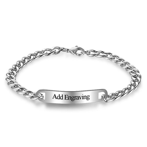 personalized stainless steel bracelet mens