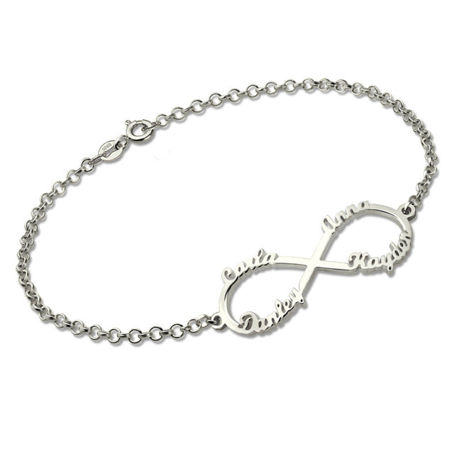 Infinity Bracelet with 4 Names