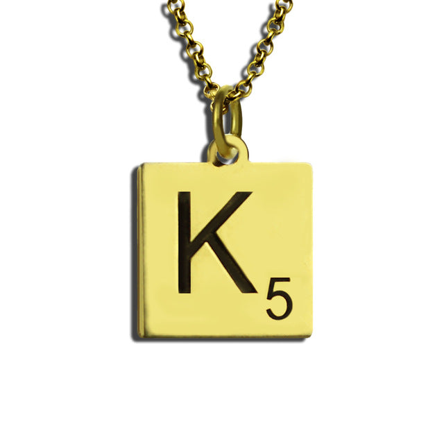 Customized Initial Necklace in 18K Gold