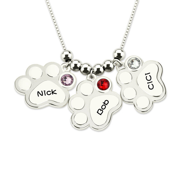 Sterling Silver Nameplate Necklace For Mom