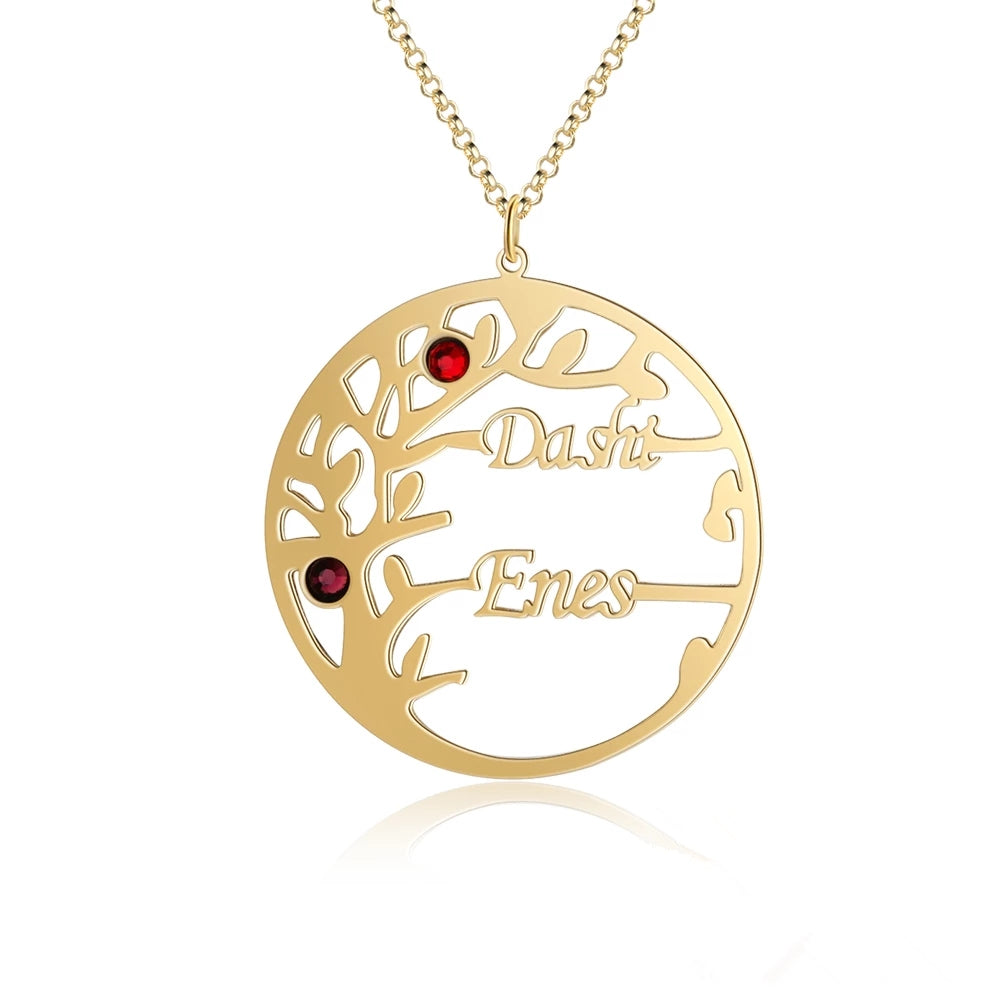Customized Birthstone Tree of Life Necklace