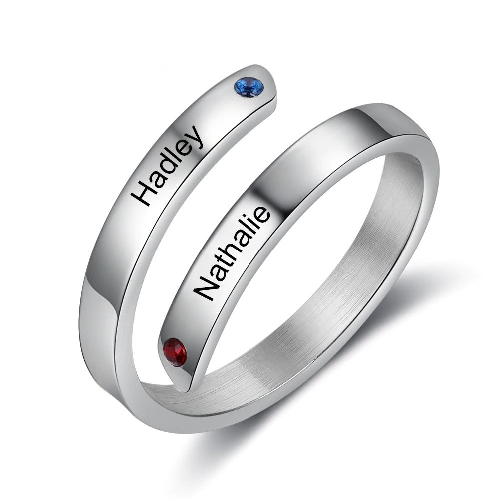 Customized Promise Ring for Couples