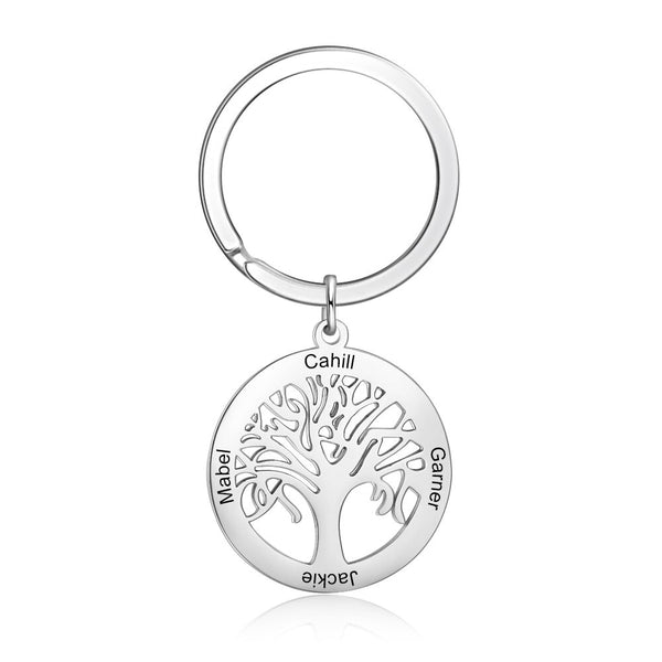 Customized Tree of Life Keychain