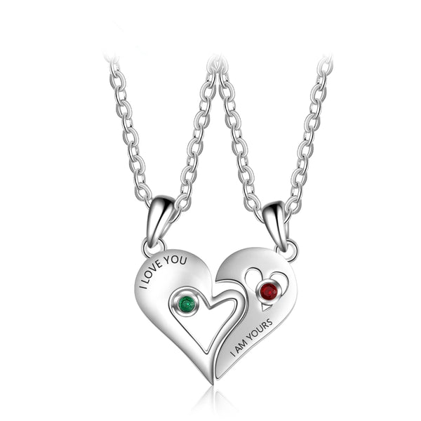 Half Heart Necklaces for Couples