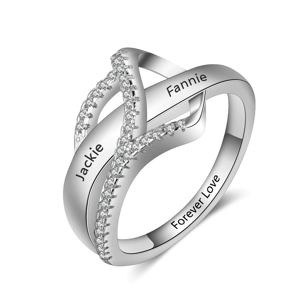 Name Engraved Promise Ring for Her
