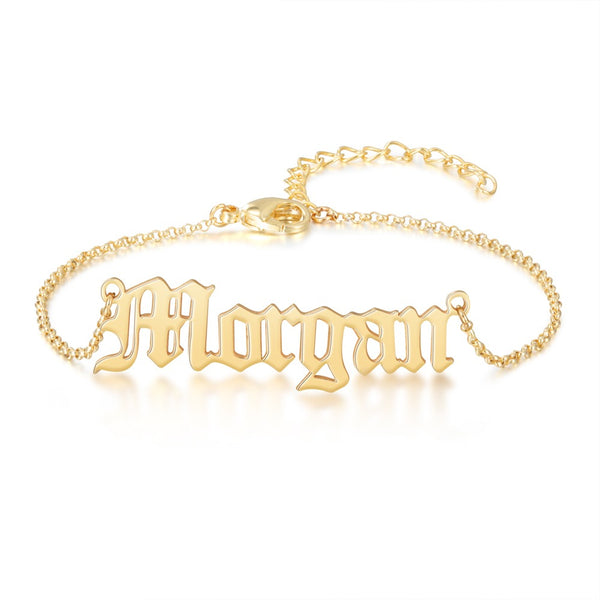 Old English Name Bracelet