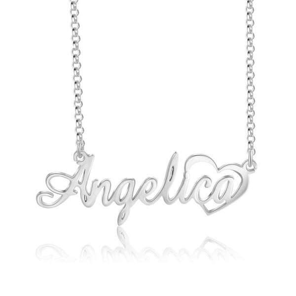 Personalized Custom Nameplace with Heart