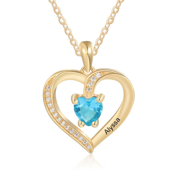 Personalized Love Heart Pendant Necklace