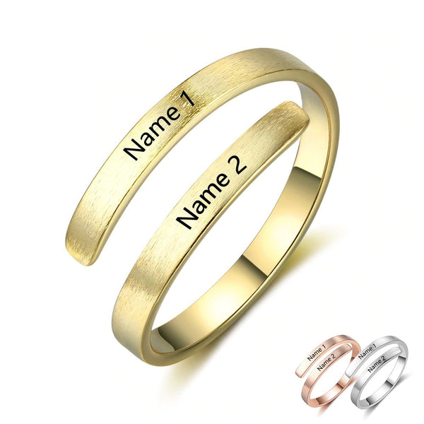 Personalized Name Engraved Ring for Couples