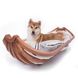 Large canine medium-sized dog Labrador pet furniture banana boat dog nest pet bed solid wood dog bed
