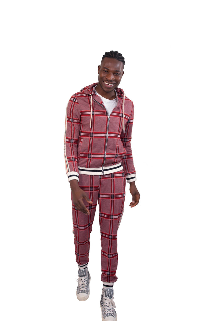 Red Check Co-ord Tracksuit