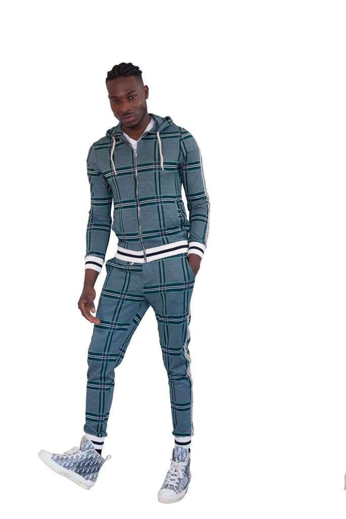 Green Check Co-ord Tracksuit