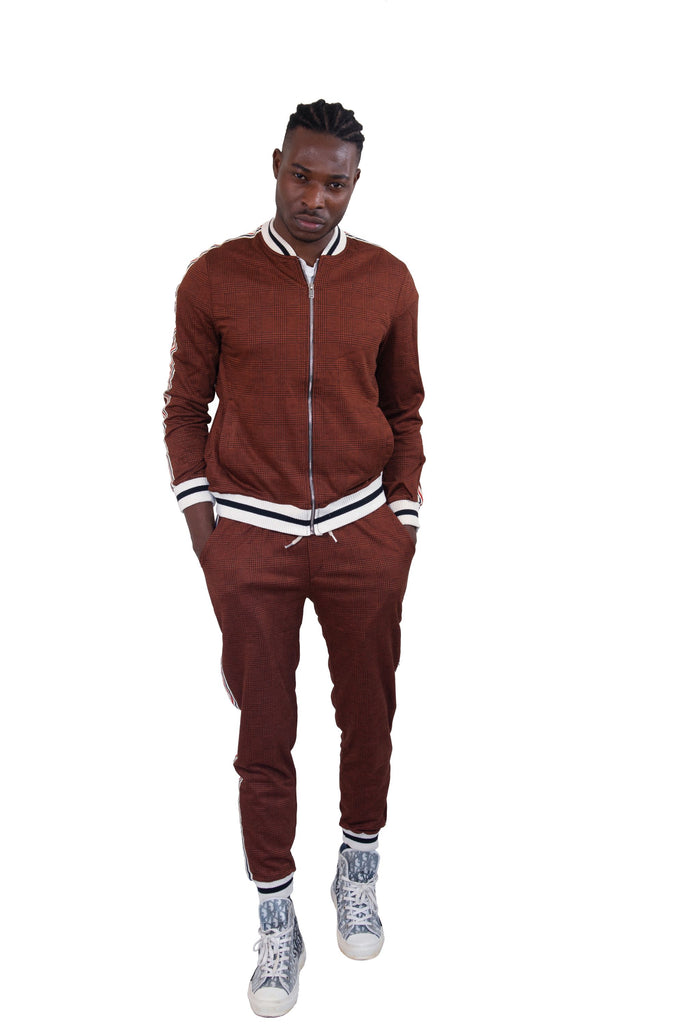 Tan Bomber Jacket and Trouser Set