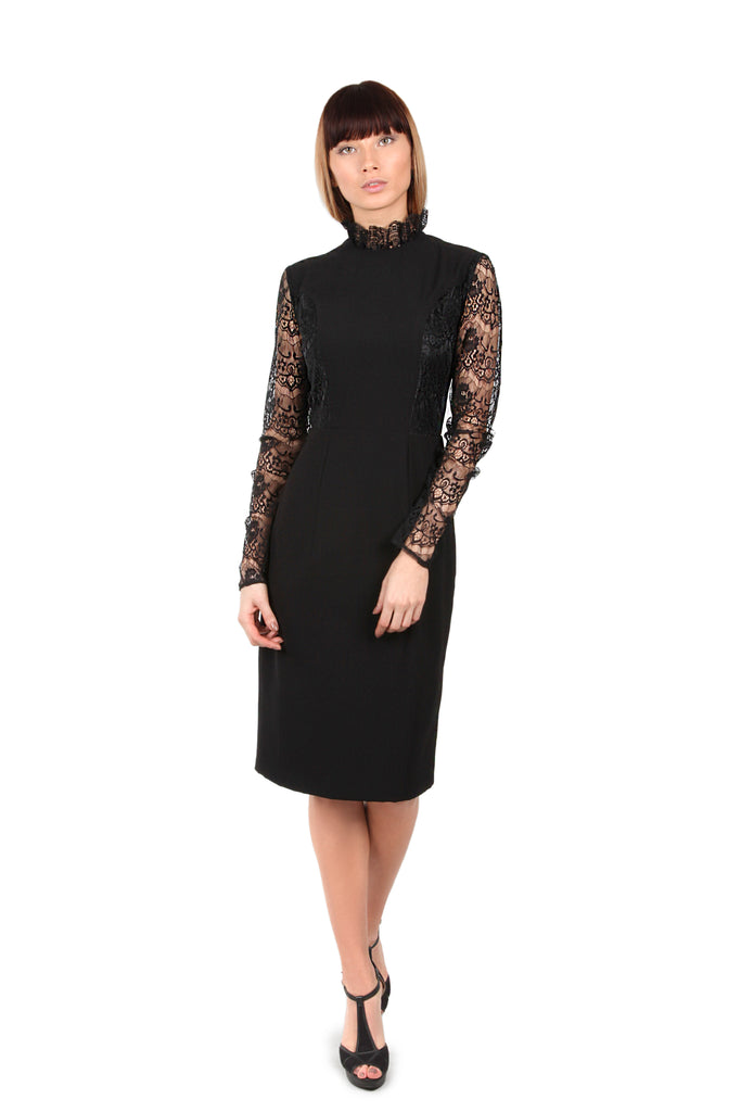 Chantilly Lace Sleeved Dress